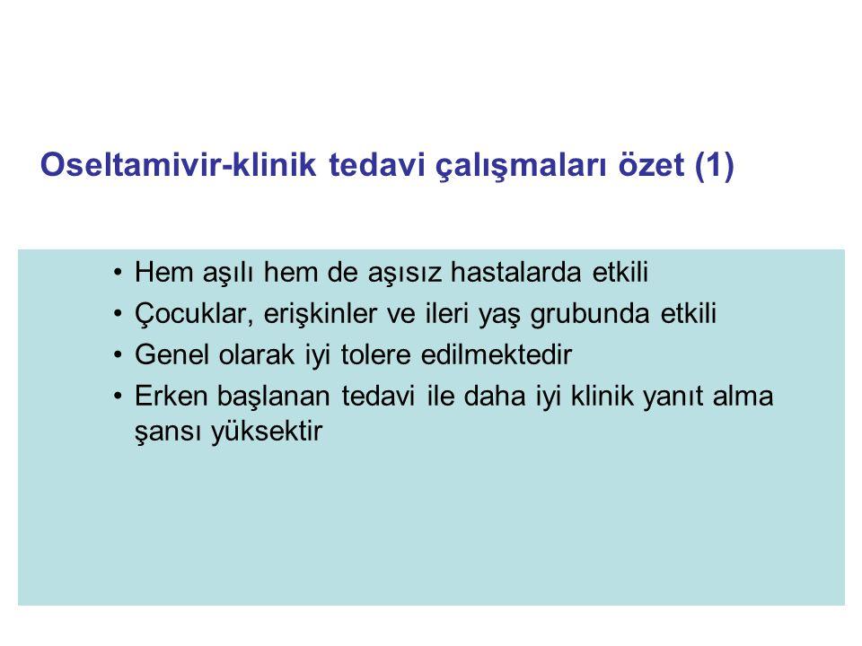 Oseltamivir-klinik tedavi çalışmaları özet (1)