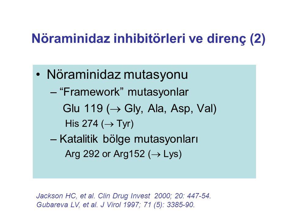 Nöraminidaz inhibitörleri ve direnç (2)
