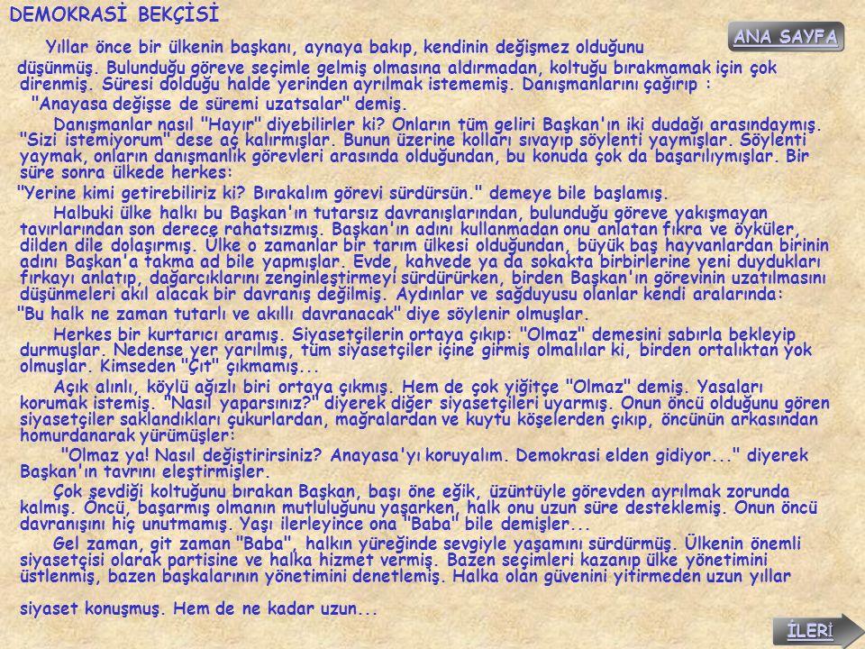 DEMOKRASİ BEKÇİSİ ANA SAYFA