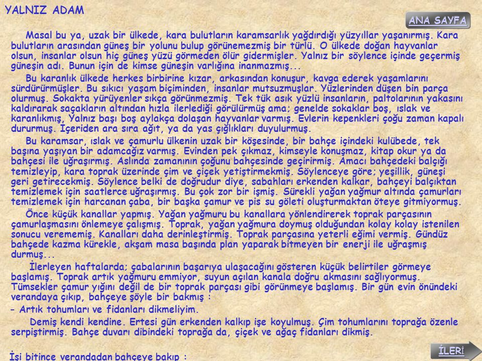 YALNIZ ADAM ANA SAYFA.