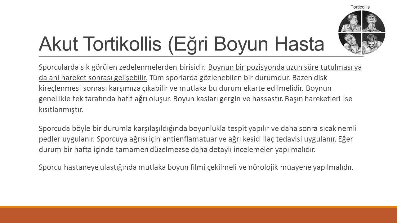 Akut Tortikollis (Eğri Boyun Hastalığı)