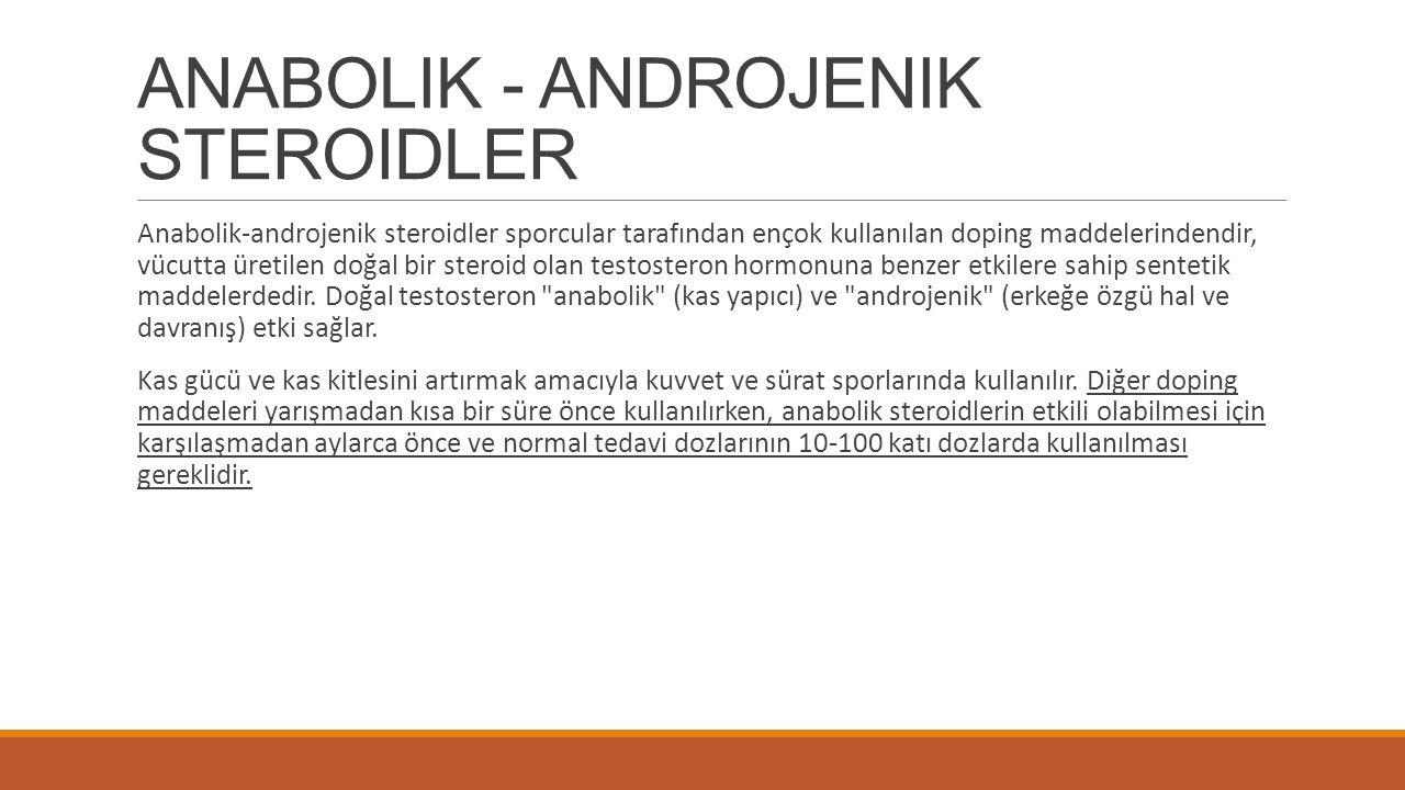 ANABOLIK - ANDROJENIK STEROIDLER