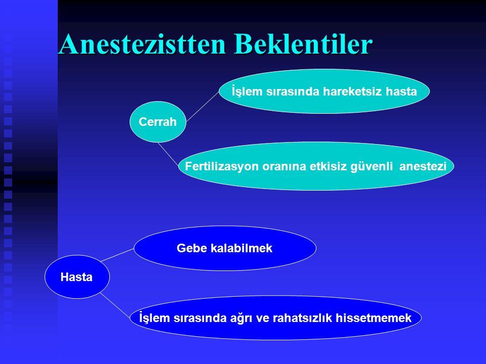 Anestezistten Beklentiler