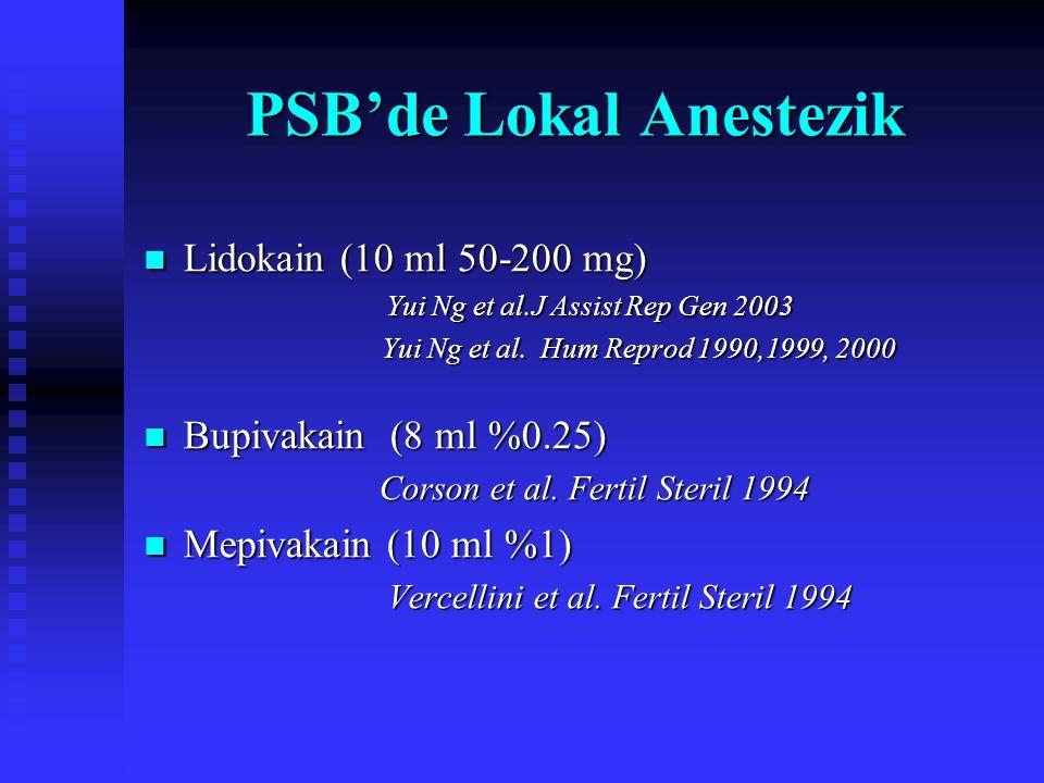 PSB'de Lokal Anestezik