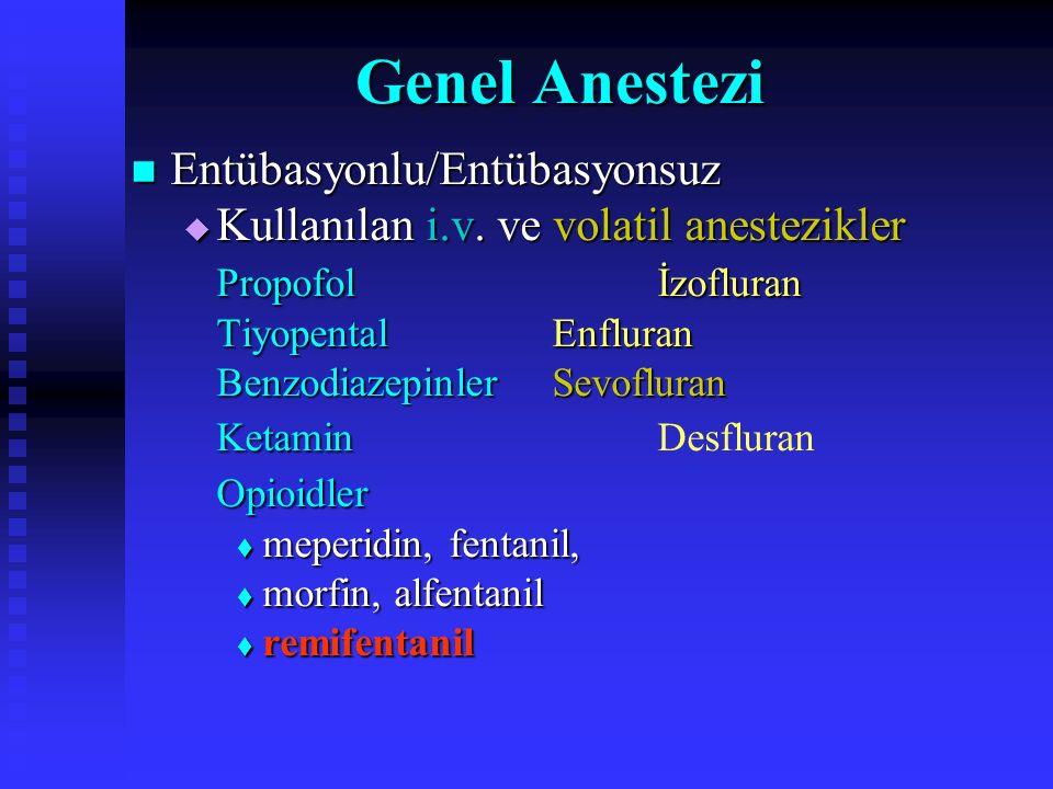 Genel Anestezi Entübasyonlu/Entübasyonsuz