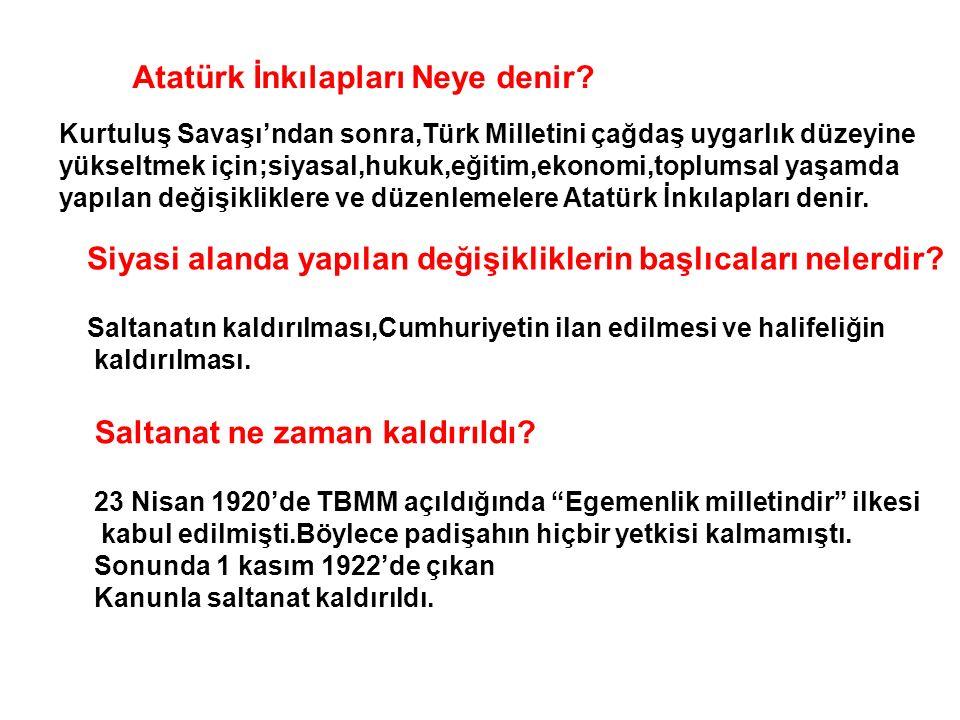 Atatürk İnkılapları Neye denir