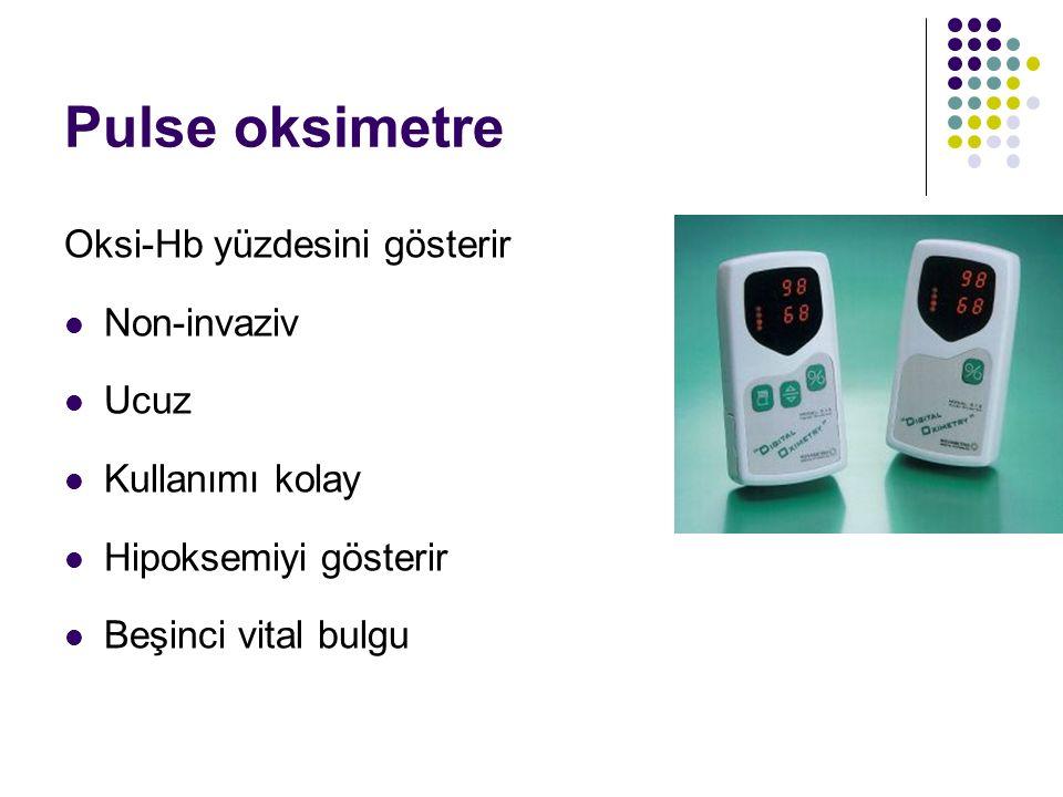 Pulse oksimetre Oksi-Hb yüzdesini gösterir Non-invaziv Ucuz