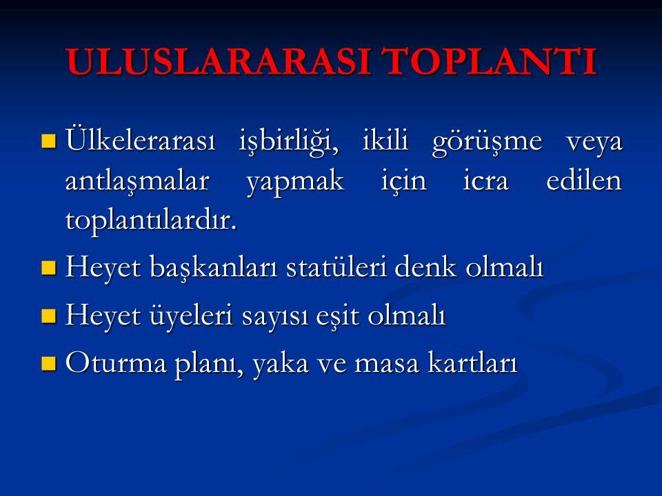 ULUSLARARASI TOPLANTI