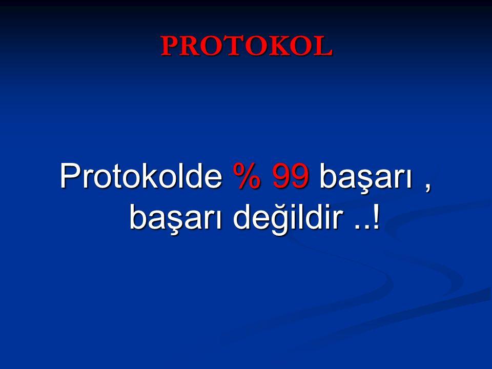 Protokolde % 99 başarı , başarı değildir ..!