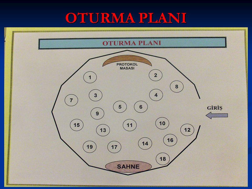 OTURMA PLANI