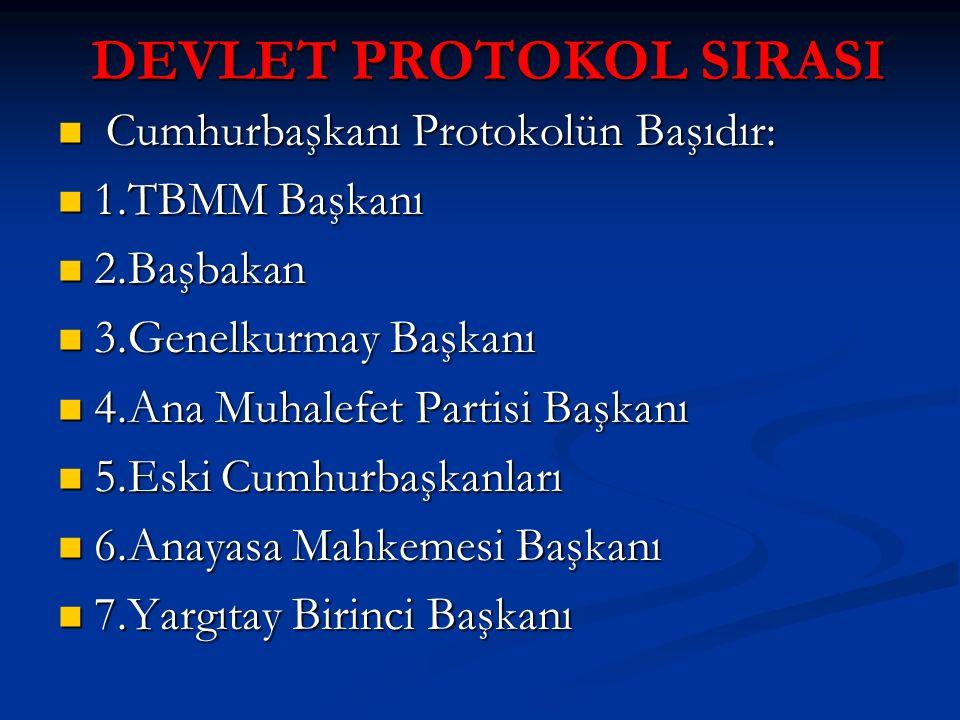 DEVLET PROTOKOL SIRASI