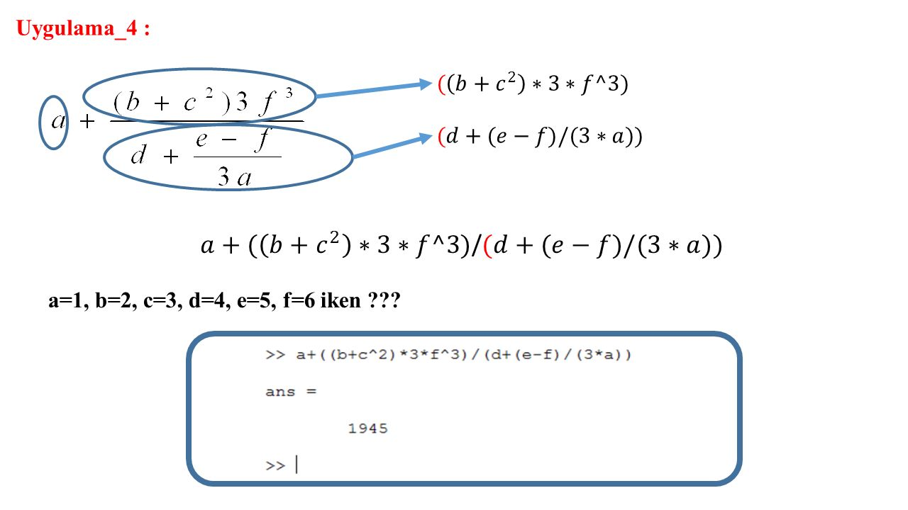 𝑎+( 𝑏+ 𝑐 2 ∗3∗𝑓^3)/(𝑑+(𝑒−𝑓)/(3∗𝑎))