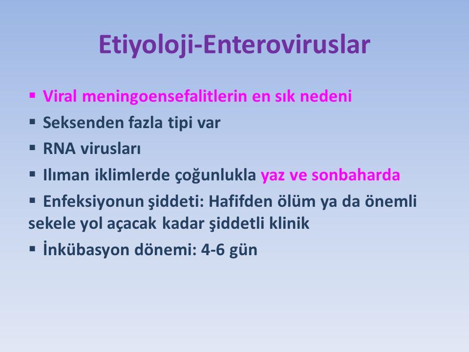 Etiyoloji-Enteroviruslar