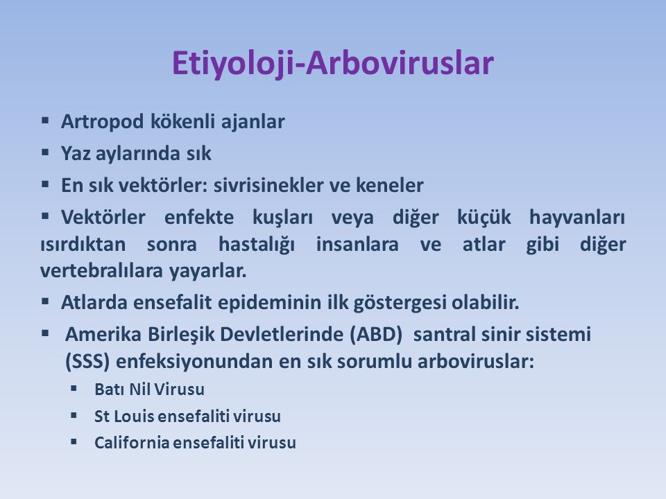 Etiyoloji-Arboviruslar