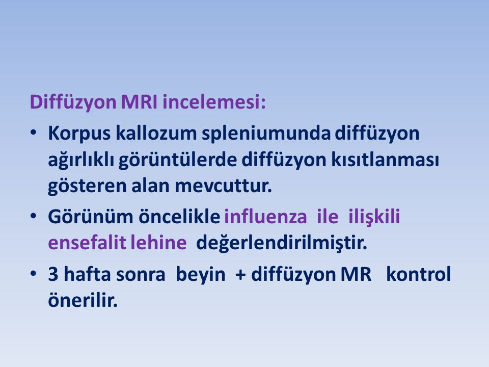 Diffüzyon MRI incelemesi: