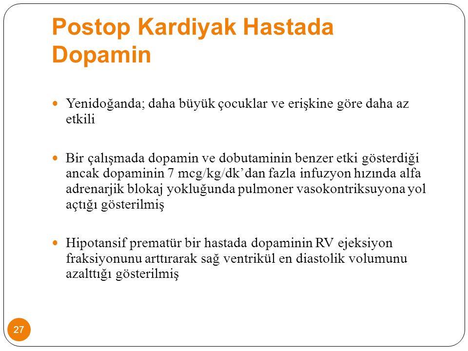 Postop Kardiyak Hastada Dopamin