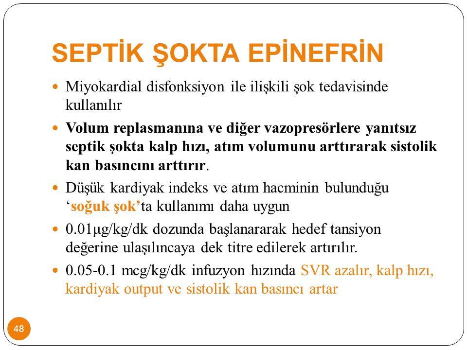 SEPTİK ŞOKTA EPİNEFRİN