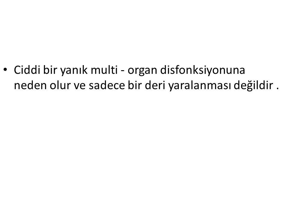 Ciddi bir yanık multi - organ disfonksiyonuna neden olur ve sadece bir deri yaralanması değildir .