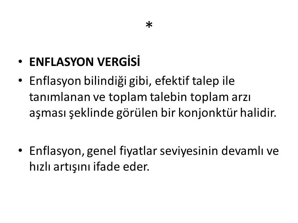 * ENFLASYON VERGİSİ.