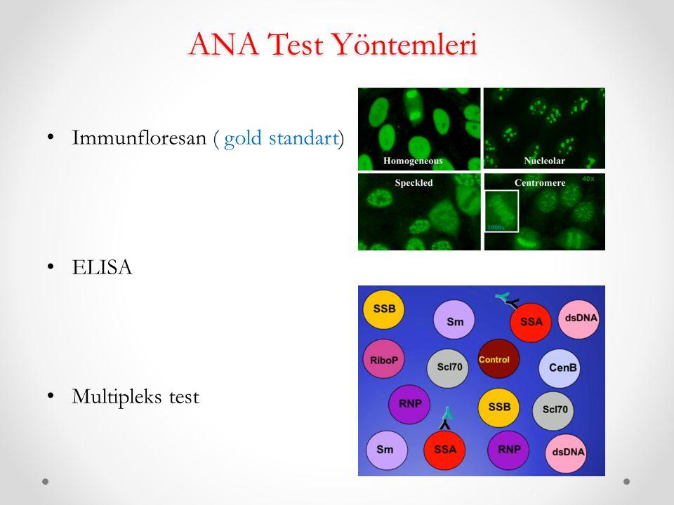 ANA Test Yöntemleri Immunfloresan ( gold standart) ELISA