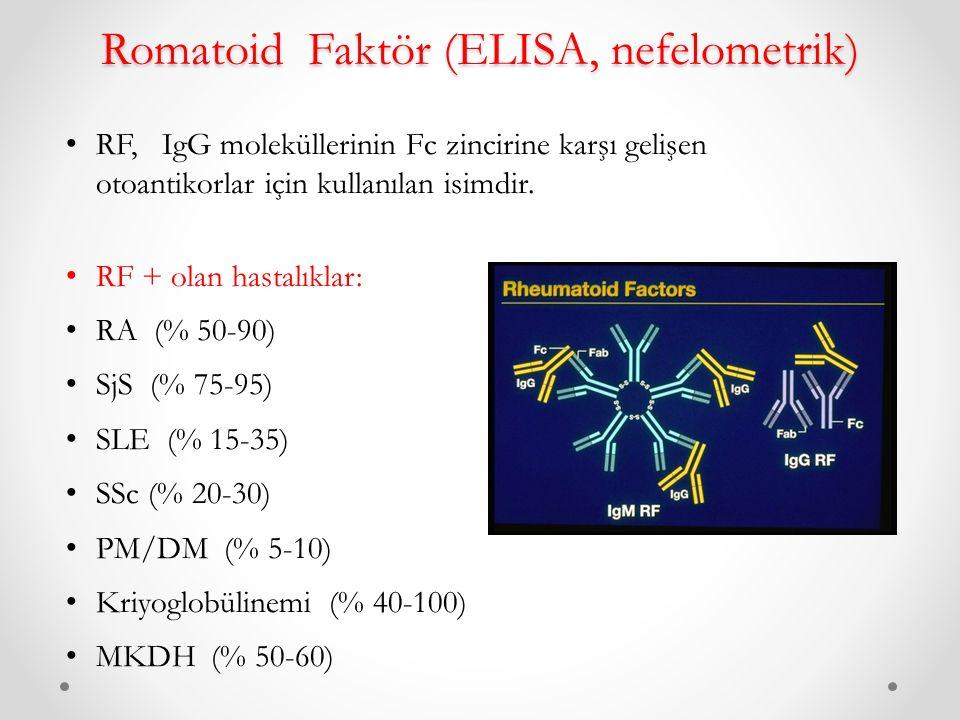 Romatoid Faktör (ELISA, nefelometrik)