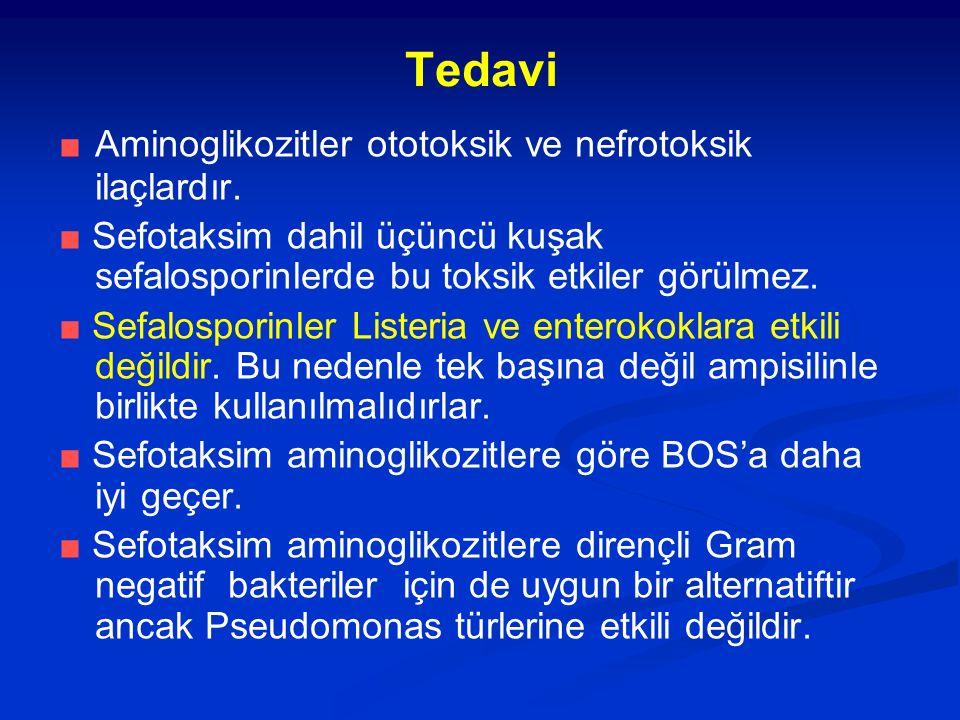 Tedavi ■ Aminoglikozitler ototoksik ve nefrotoksik ilaçlardır.