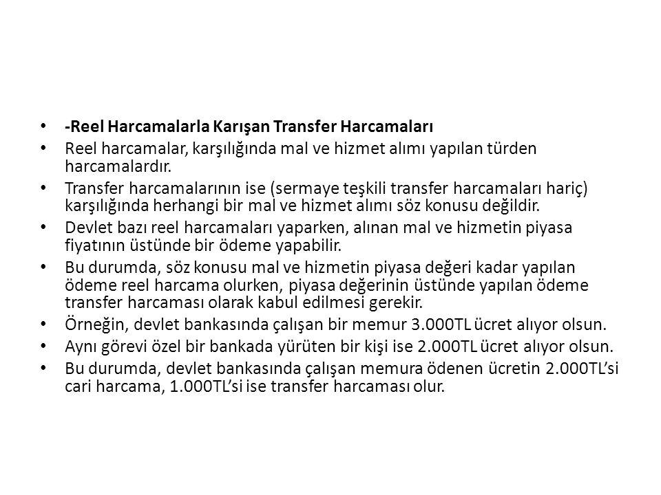 -Reel Harcamalarla Karışan Transfer Harcamaları
