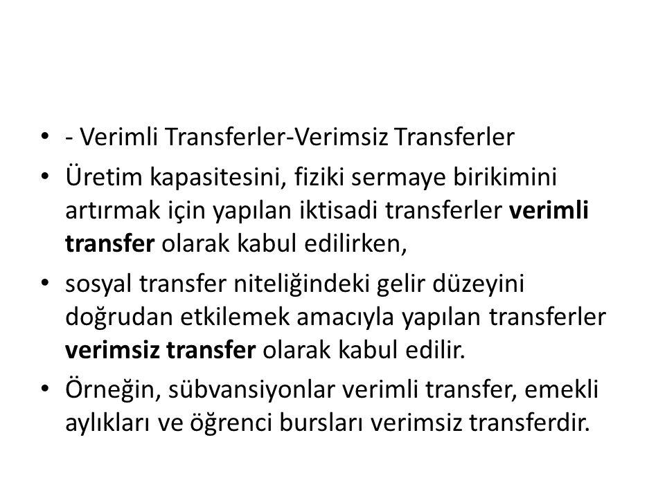 - Verimli Transferler-Verimsiz Transferler