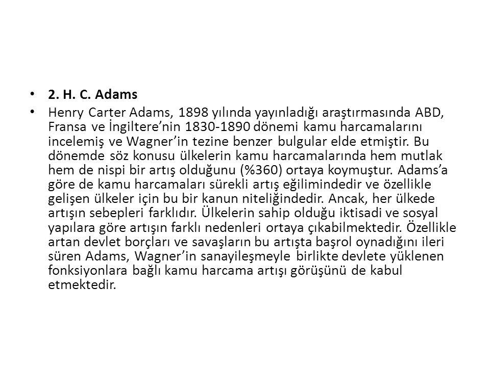 2. H. C. Adams