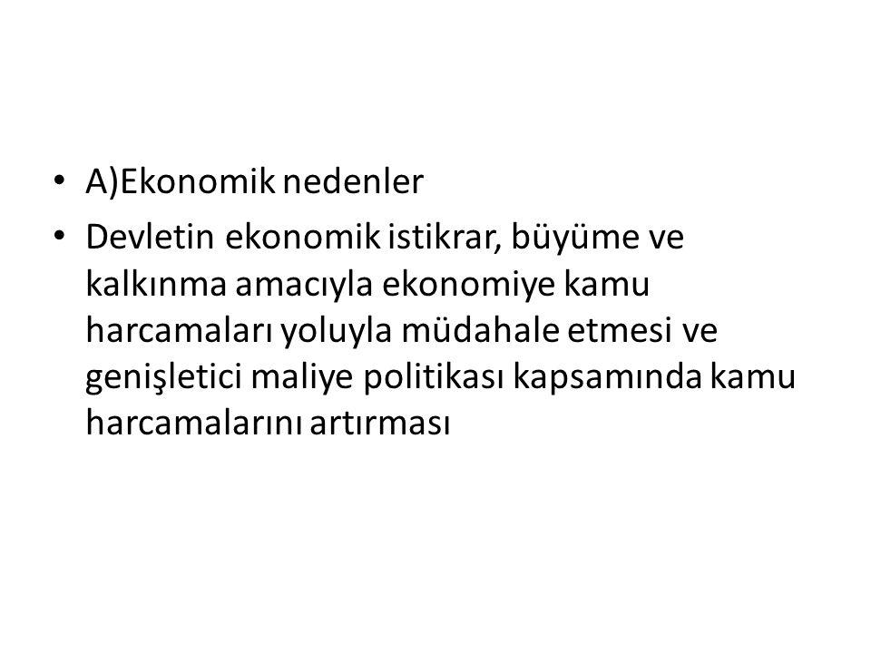 A)Ekonomik nedenler