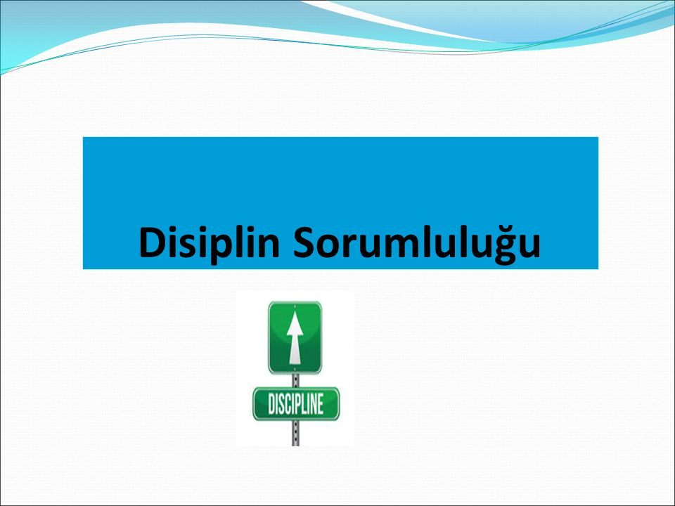 Disiplin Sorumluluğu