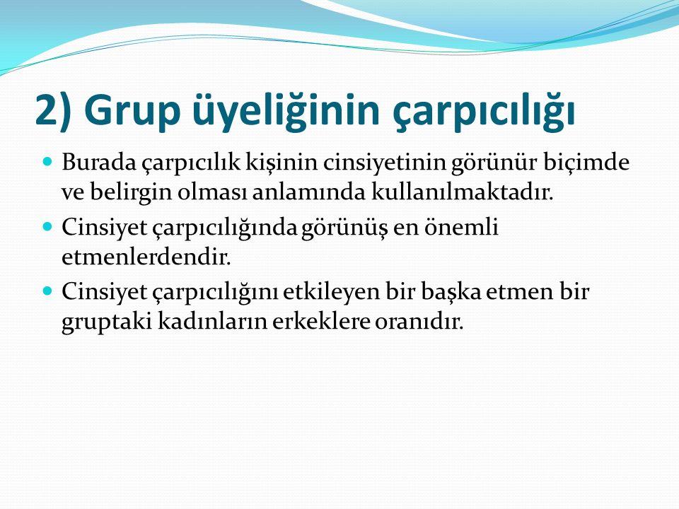 2) Grup üyeliğinin çarpıcılığı