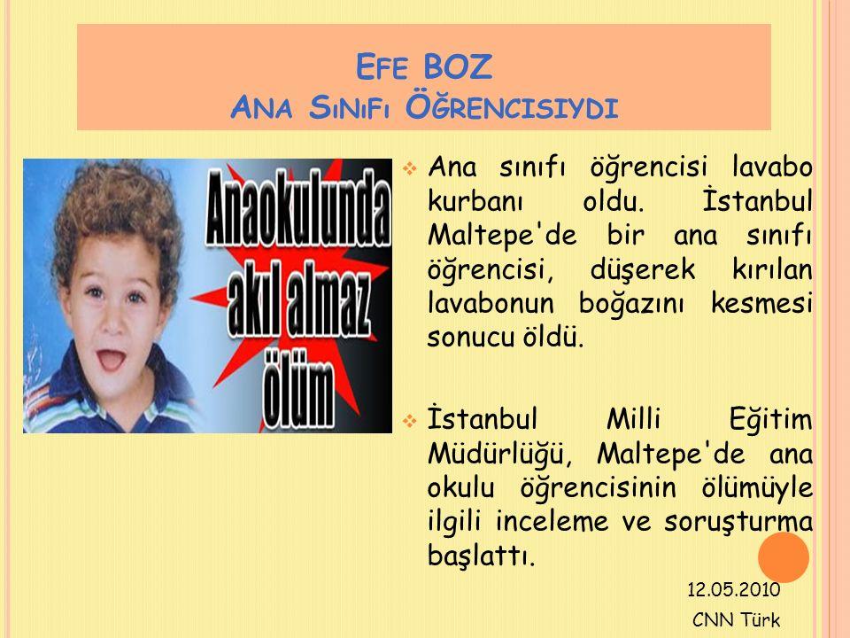 Efe BOZ Ana Sınıfı Öğrencisiydi