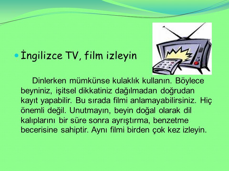 İngilizce TV, film izleyin