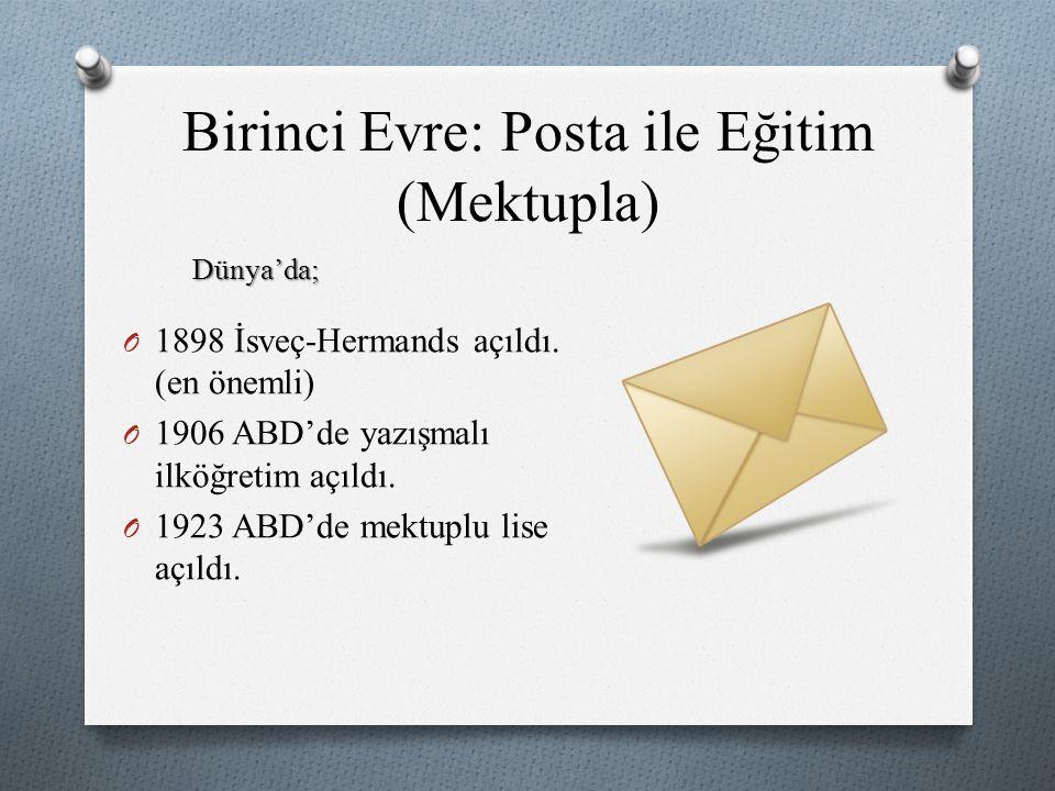Birinci Evre: Posta ile Eğitim (Mektupla)