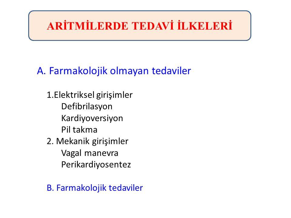 ARİTMİLERDE TEDAVİ İLKELERİ