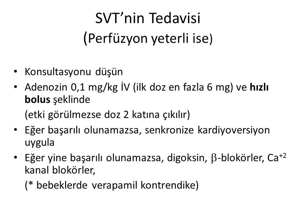 SVT'nin Tedavisi (Perfüzyon yeterli ise)