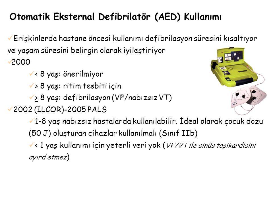 Otomatik Eksternal Defibrilatör (AED) Kullanımı