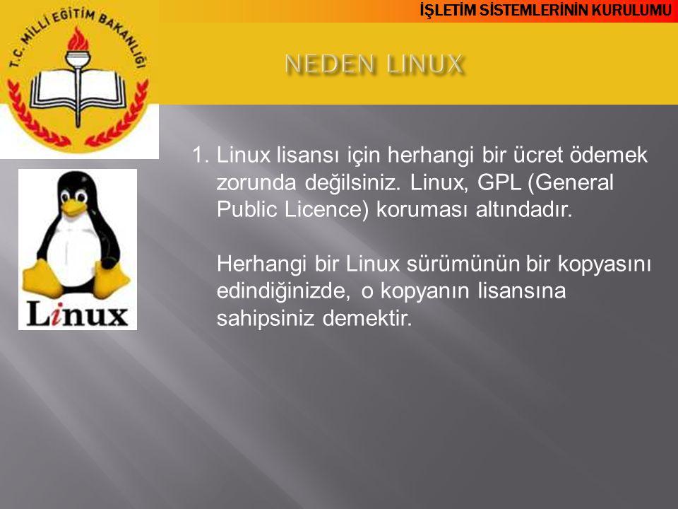 NEDEN LINUX