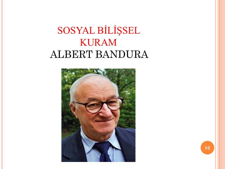 SOSYAL BİLİŞSEL KURAM ALBERT BANDURA