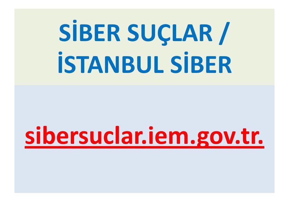 SİBER SUÇLAR / İSTANBUL SİBER