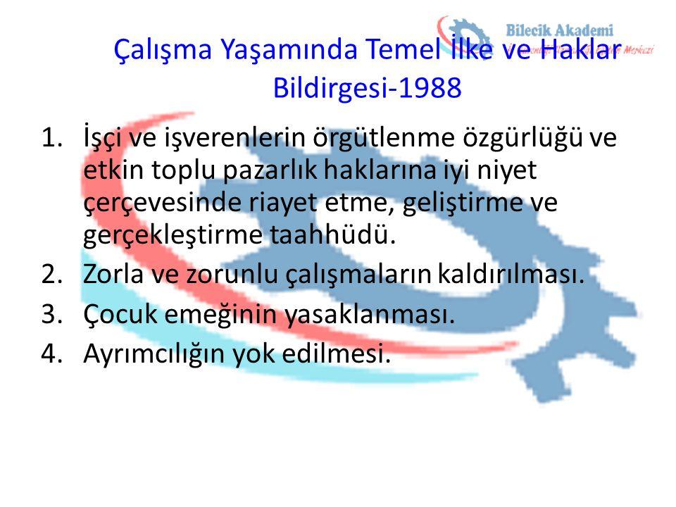 Çalışma Yaşamında Temel İlke ve Haklar Bildirgesi-1988