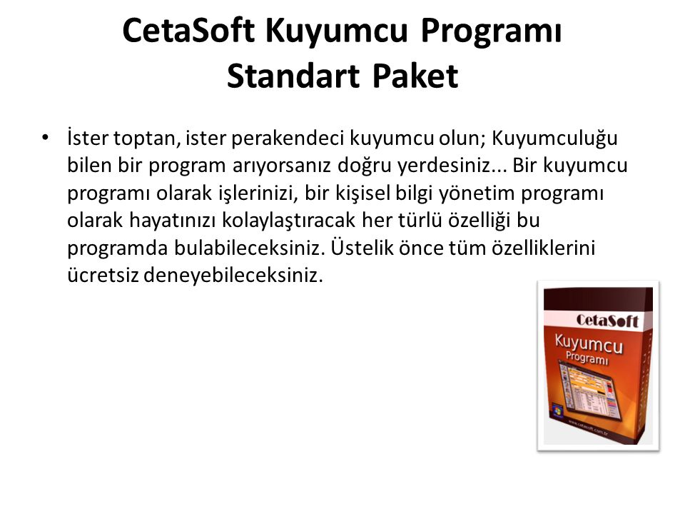 CetaSoft Kuyumcu Programı Standart Paket