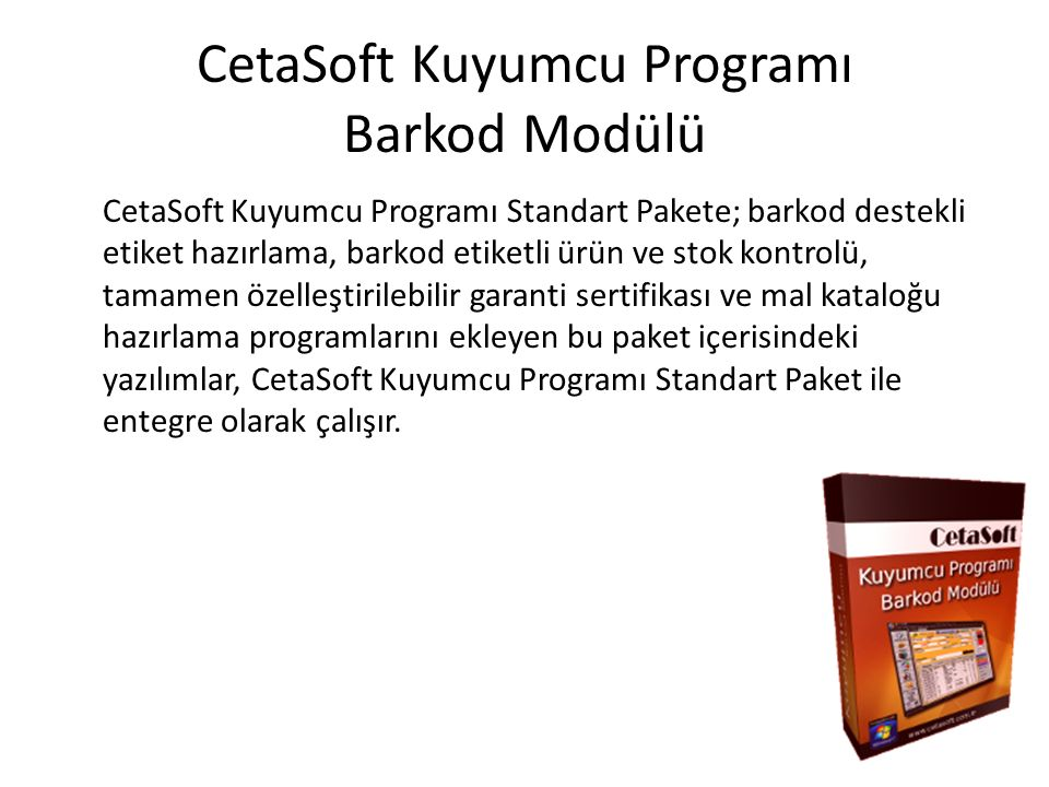 CetaSoft Kuyumcu Programı Barkod Modülü