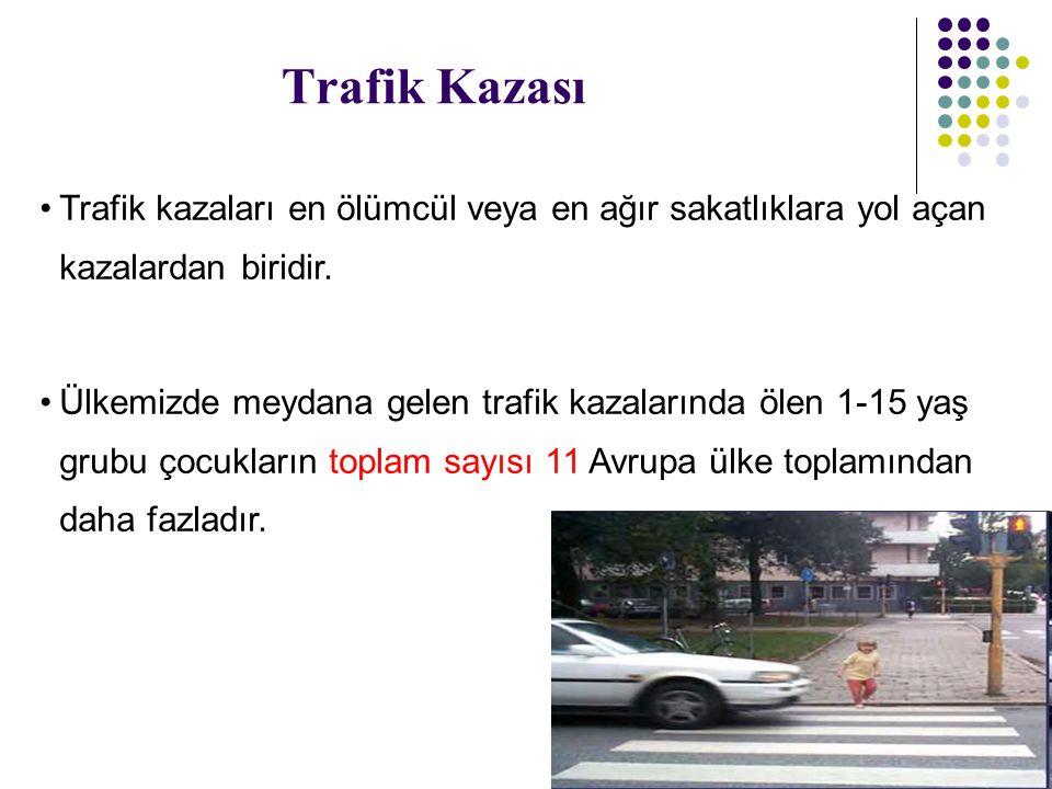 Trafik Kazası Trafik kazaları en ölümcül veya en ağır sakatlıklara yol açan kazalardan biridir.