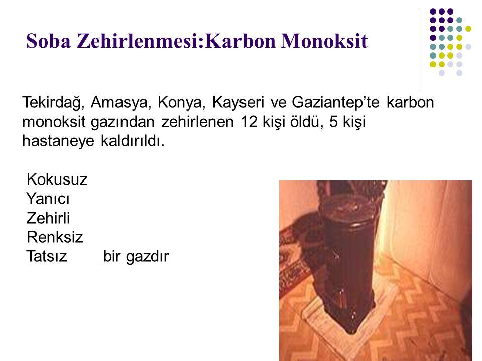 Soba Zehirlenmesi:Karbon Monoksit