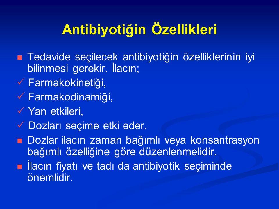 Antibiyotiğin Özellikleri