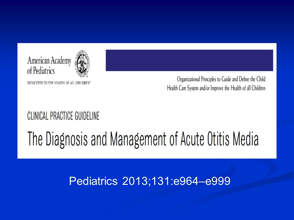 Pediatrics 2013;131:e964–e999