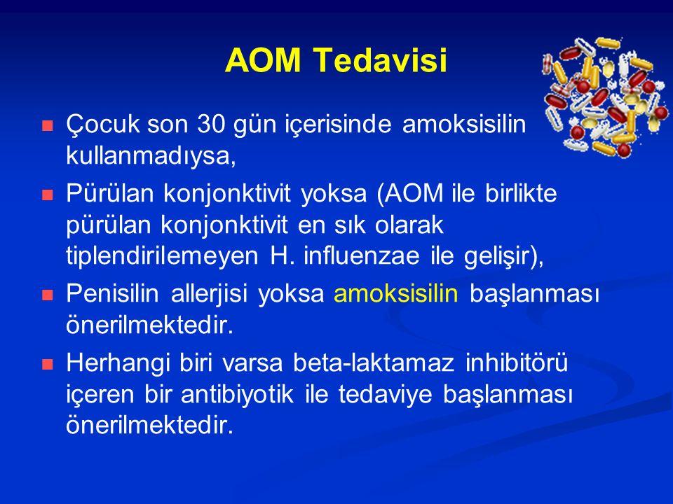 AOM Tedavisi Çocuk son 30 gün içerisinde amoksisilin kullanmadıysa,