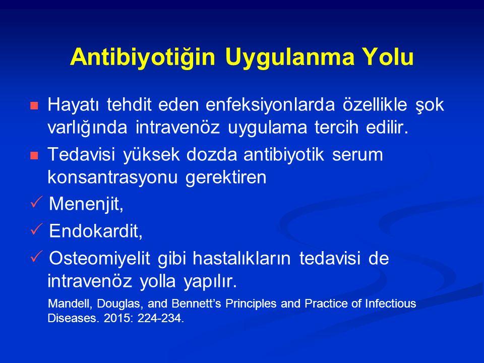 Antibiyotiğin Uygulanma Yolu